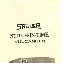 Image of Shaler Stitch-In-Time Brochure/Manual