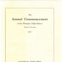 Image of Program of the Annual Commencement - 1917