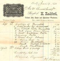 Image of Radford invoice