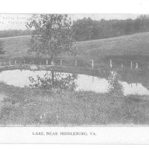 Image of Postcard of lake near Middleburg, VA