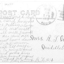 Image of Reverse (Home of J.E. Douglass, Loudoun Co., VA)