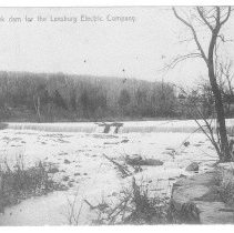 Image of Goose Creek dam for the Leesburg Electric Company