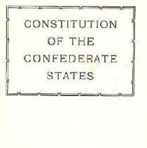 Image of Constitution of the confederat