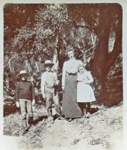 Image of A walk in the canyons - May and the children.