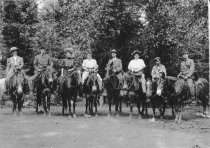 Image of Outing on horseback: Rindges and friends