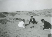 Image of At play in the dunes