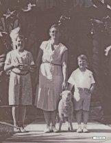 Image of Adamson children and pet, 1931
