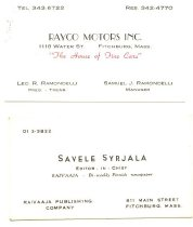 Image of 1979.042.002 - card, business
