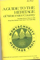 Image of A booklet describing the towns in Worcester county and their historical highlights. - book
