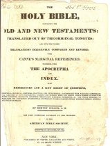 Image of Adams Family Bible