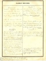 Image of Adams Family Record