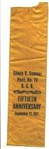 Image of commemoratives ribbons - commemorative ribbon Edwin V. Sumner Post, No. 19 G.A.R.