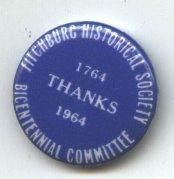 "Image of pin bicentennial - Fitchburg Bicentennial ""Thanks"" pin"