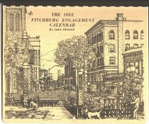Image of calendar - pen and ink drawings of Fitchburg