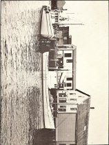 Image of Published for The Border Historical Society, a calendar for the year 1983, each month features an old black and white photograph from the late 19th century or early 20th. October, for instance, depicts an old side-wheel steam powered boat at Huston's Shipyard at Shackford's Cove, c.1870. - Booklet