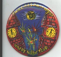 Image of Pin First Night New Year's Eve Celebration Holiday - New Year's Eve Celebration First Night Button