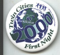 Image of 2000 First Night Button
