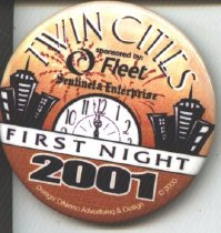 Image of 2001 First Night Button