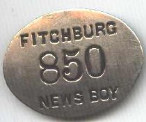 Image of newspaper delivery newsboy - newspaper delivery newsboy badge