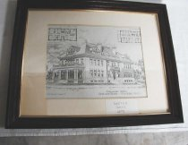 Image of architecture Old Ladies Home retirement H.M. Francis Cedar Street Home Fitchburg Home for Old Ladies drawing architectural sketch - architectural drawing Old Ladies Home