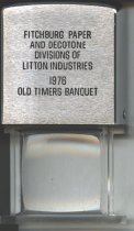 Image of magnifier Fitchburg Paper Company Old Timers Club - Fitchburg Paper Company Old Timers Club magnifier