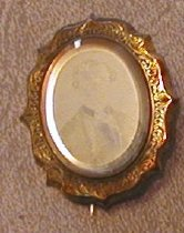 Image of jewelry ambrotype pins brooch - brooch ambrotype Captain Clark Simonds