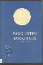 "Image of Worcester Bankbook covers the growth of Worcester County National Bank from ""Country Barter to County Bank""  1804-1966 - book"