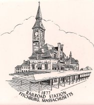Image of Railroads Transportation - Tile Railroad Station
