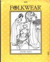 Image of A dress pattern for Empire Dress , a high waisted dress dating back to the Directoire Period of France ., Interchangeable with Women's Trunk - Dress