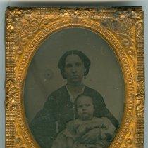 Image of Daguerreotype of Zilpha Burnham and child