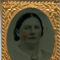 Image of Tintype of unidentifid woman, probably Ingalls family