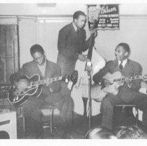 Image of Charlie Christian,Slam Stewart and Teddy Dunn.