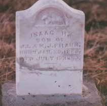 Image of Isaak H. Frank - Sowell Cemetery Collection