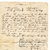 Image of Order to Sell Town Lots in Bonham. - Bonham, City of, Collection