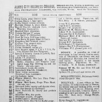 Image of Bonham Business Directory from the Texas Gazeteer, 1890 - Directories