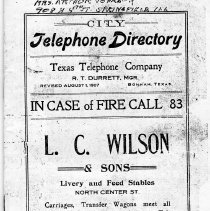 Image of City Telephone Directory. - Telephone Directories