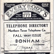 Image of Telephone Directory.  1931 - Telephone Directories
