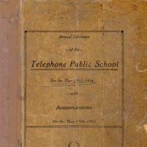 Image of Annual Catalog of the Telephone Public School for the Year 1905-1906 with Announcements for the year 1906-1907. - Fannin County Schools Collection