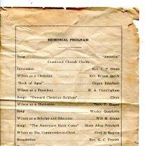 Image of Woodrow Wilson Memorial Program p.3