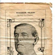 Image of Woodrow Wilson Memorial Program - World War I