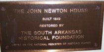 Image of Newton House Plaque