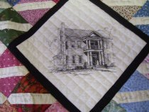Image of Newton House quilt detail