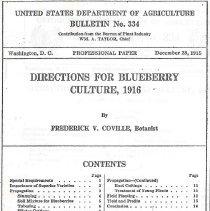 Image of USDA Bulletin No. 334