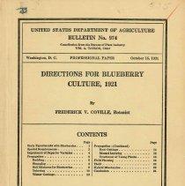 Image of USDA Bulletin No. 974