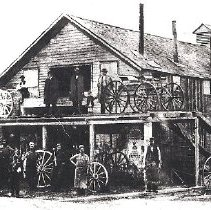 Image of Joseph Mckeon , wager shop , carriage shop, - Print, Photographic