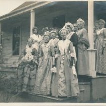 Image of Country Club of Washington Township with women on porch