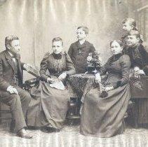 "Image of ""Uncle Samuel, Josephine, Aubrey, Aunt Jenny, Anna, Lida."" - 1891"