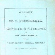 """Image of """"Report of Ed. R. Pennebaker..."""" - Pennebaker, Ed. R."""