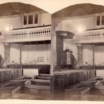 Image of 19- Interior View.-Old Trappe Church, (Lutheran) - 1900