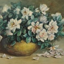 "Image of Carlyle, Florence, ""Roses in a Brass Bowl"""